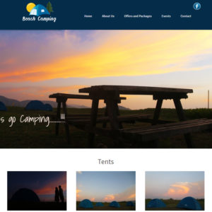 Beach Camping Website Design
