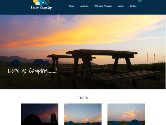 Beach Camping Website Design