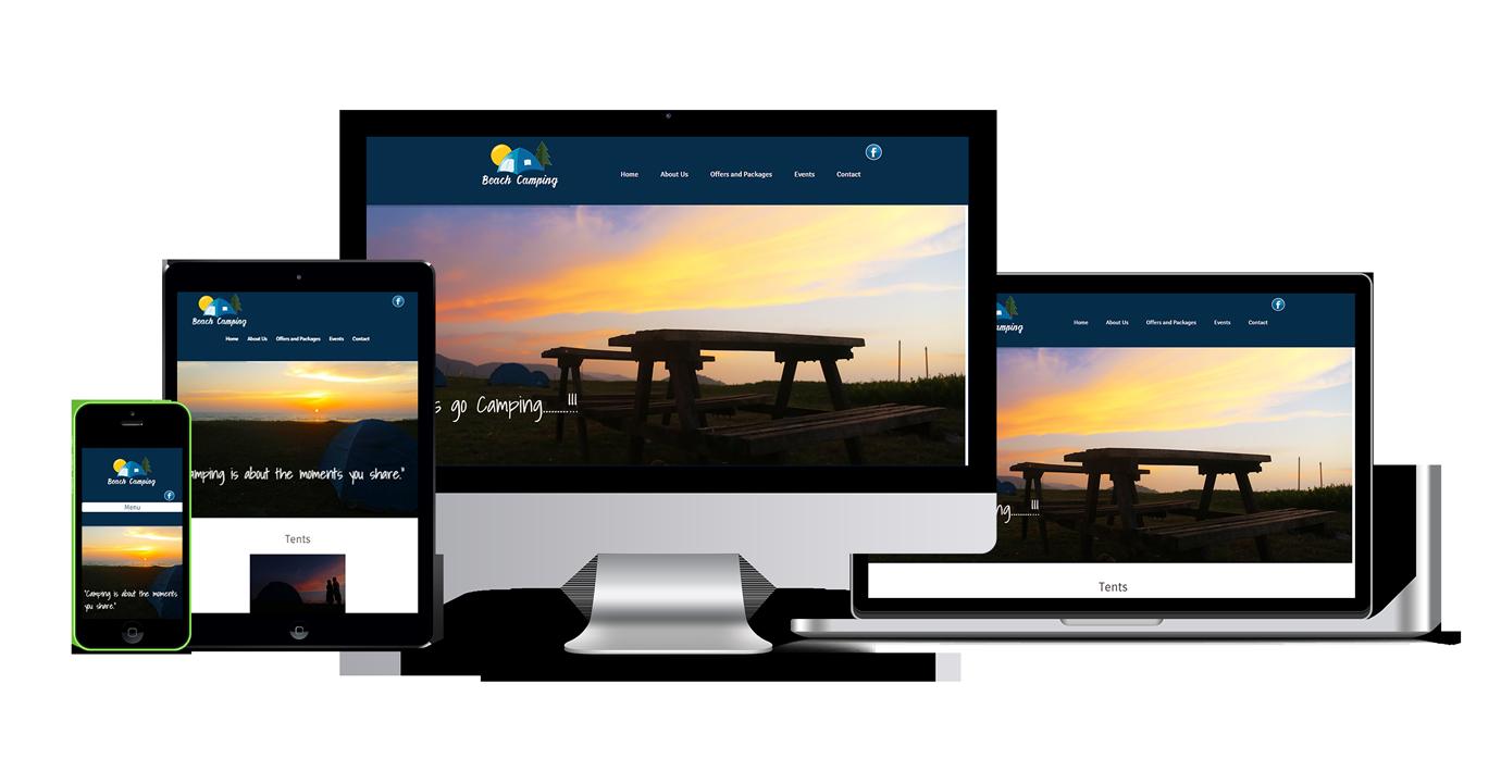 Beach Camping website development