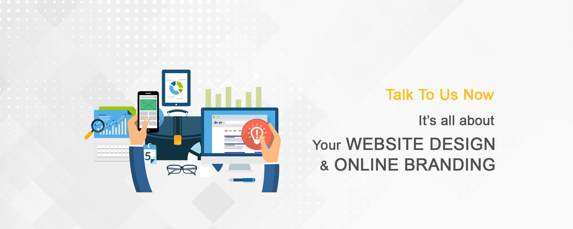 web design and digital marketing logo