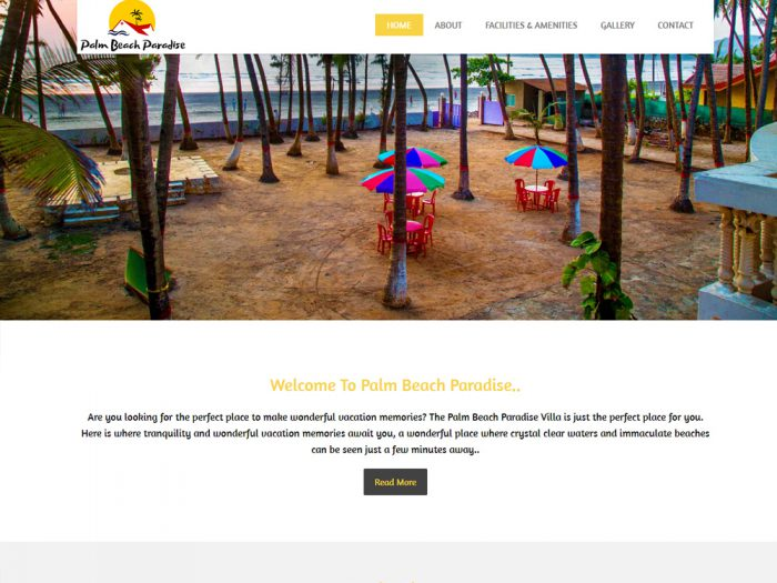 Palm Beach Paradise website Design