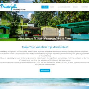 Shivanjali Holiday Home Website Design