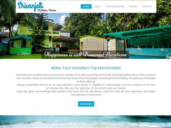Shivanjali Holiday Home Website Design