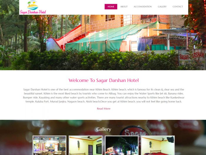 Sagar Darshan Hotel Website Design