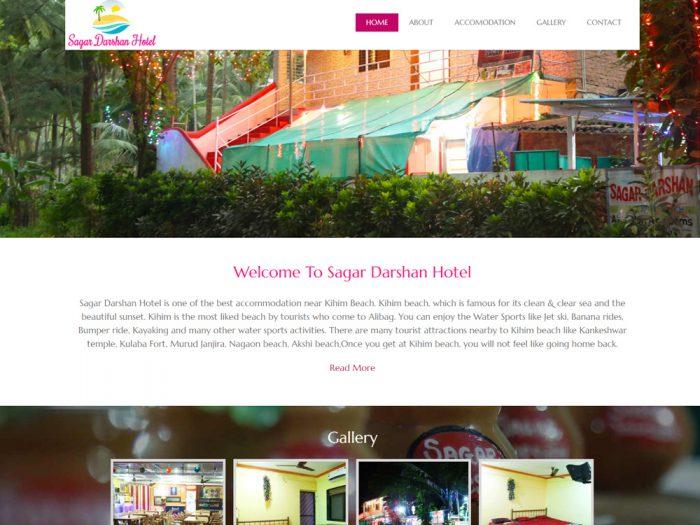 Sagar Darshan Hotel Website Design