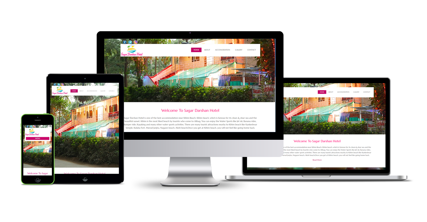 Sagar Darshan Hotel Website Development