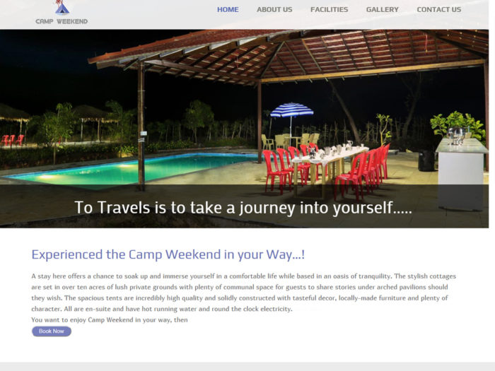 Camp Weekend Website Design