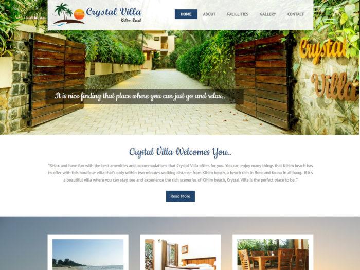 Crystal Villa Wbsite Design