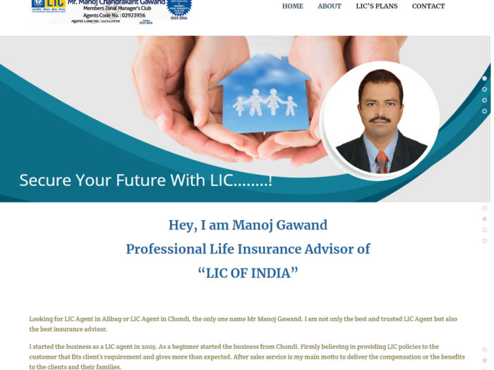 Mr.Manoj Gawand -LIC Website Design