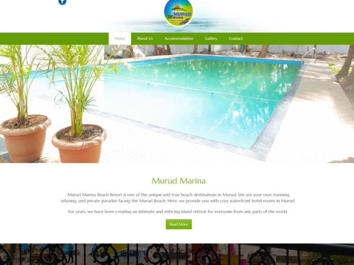 Murud Marina Website Design