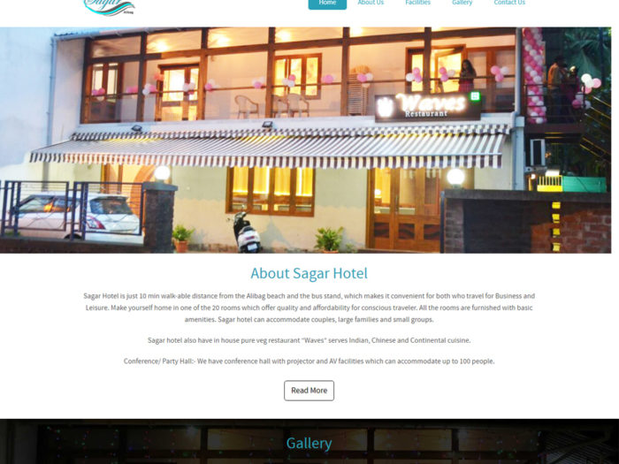 Sagar Hotel Website Design